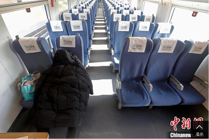 受疫情影响 高铁车站和列车空荡荡